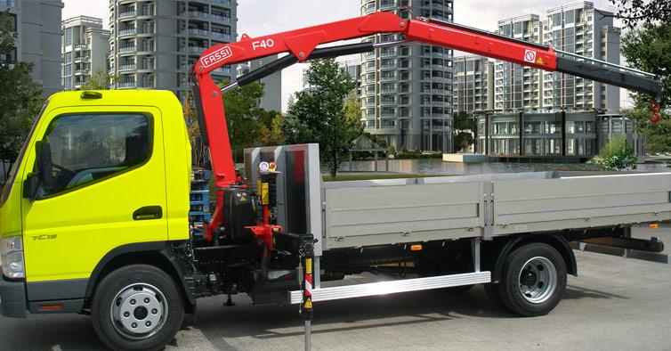 Hydraulic truck crane F40B active - Fassi Crane