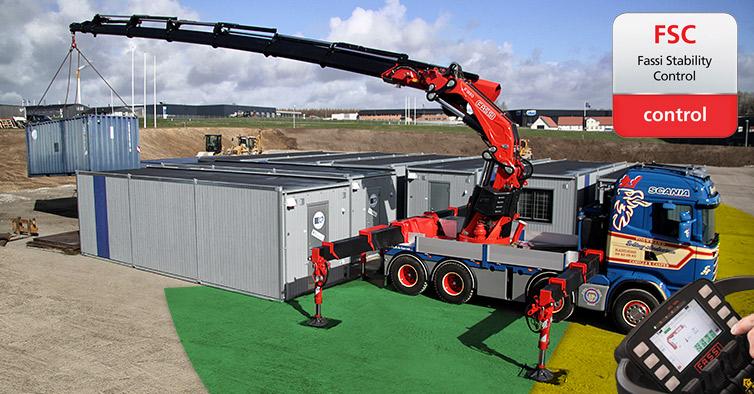 Fassi truck crane stability control | FSC - Fassi Crane