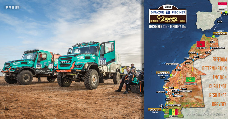 Fassi sponsors IVECO - Africa Eco Race 2018