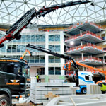 Fassi cranes work in synergy in Amsterdam