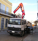 Fassi crane F155A.0 at Montevideo