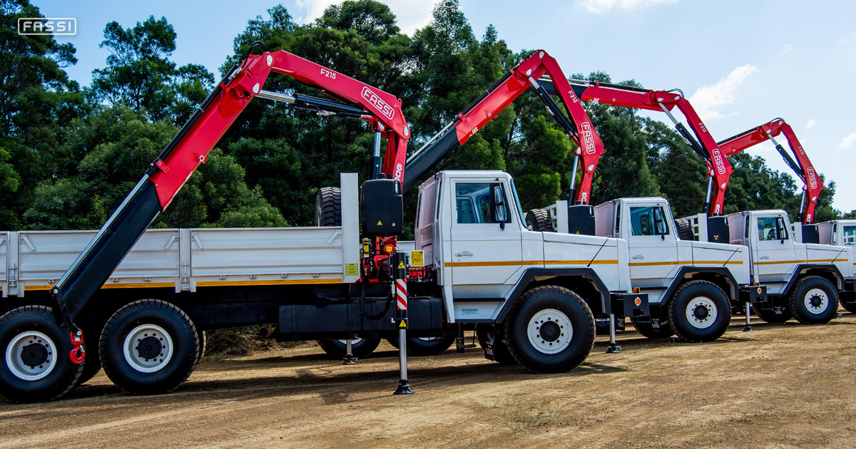 Fassi F215A cranes for mining