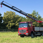 A Fassi F365RA.2.26 crane on a Mercedes truck