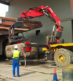 A Fassi truck crane F660RA model with 8.5ton tyres manipulator in Zambia