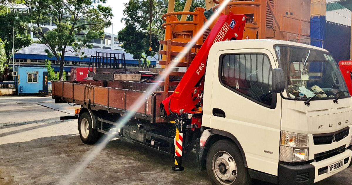 Fassi F85B.0.24 for landscaping in Singapore