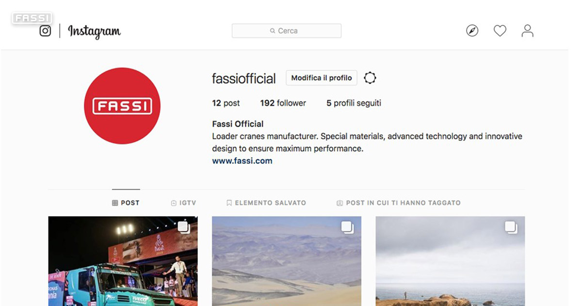 "Fassi launches ""Fassiofficial"" on Instagram"