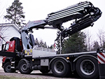 A Fassi loader crane into a video of the Palvelut Niemi Oy company