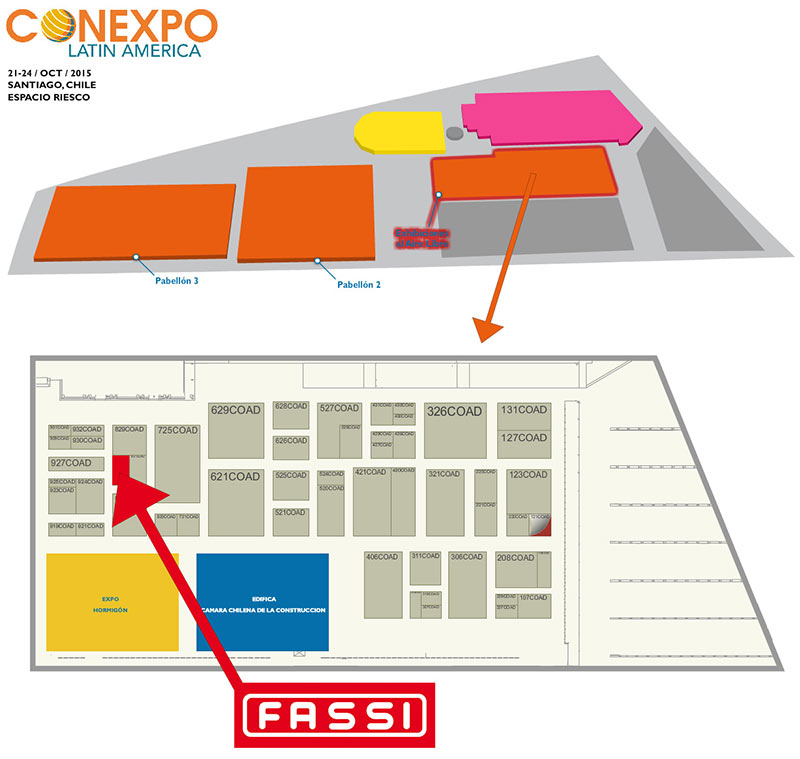 Fassi-at-the-Conexpo-Latin-America-fair-in-Santiago-Chile-Map