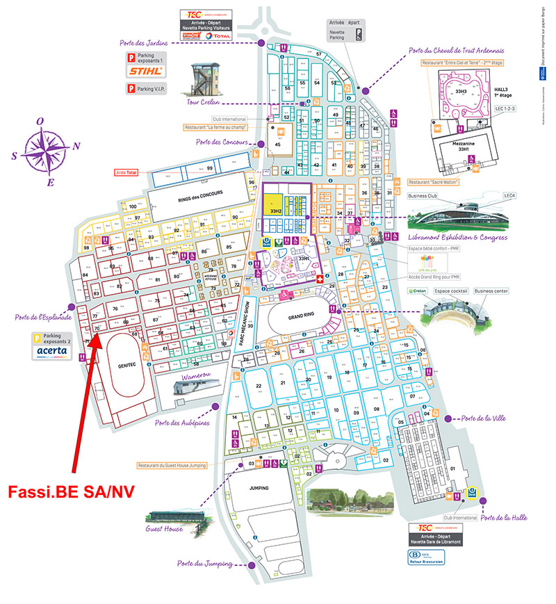 Fassi-stand-at-Libramont-fair-2015-map