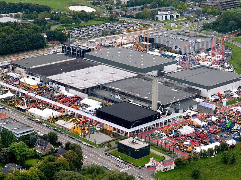 Fassi.BE at Matexpo2013 aerial view