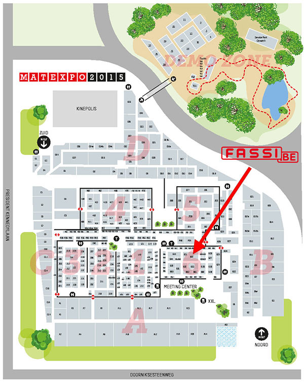 Fassi.BE at Matexpo2015 map