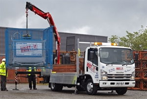 Fassi F65 rear mounted crane on Isuzu