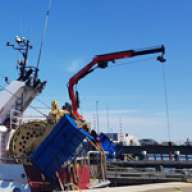 Fassi marine crane in the Netherlands