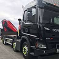 Fassi truck-mounted cranes for crusher liners